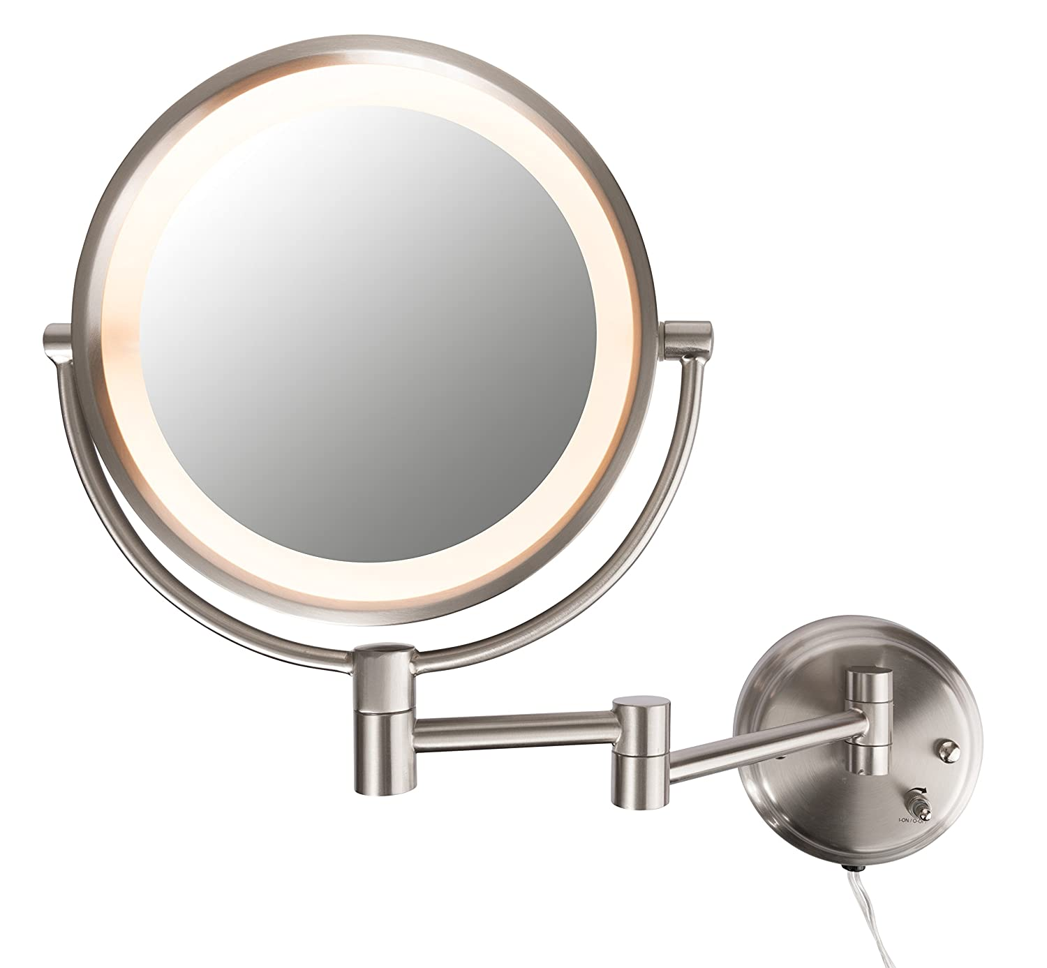 10x Lighted Wall Mounted Makeup Mirror